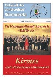 Amtsblatt 42-2013 - Landkreis Sömmerda