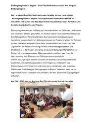 Bildungsregionen in Bayern - Landratsamt Bad Tölz - Wolfratshausen