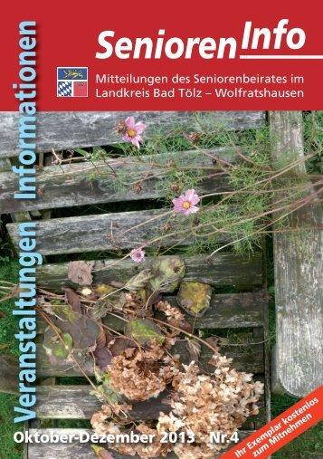 Senioren-Info 4'2013 - Landratsamt Bad Tölz - Wolfratshausen