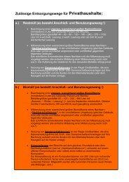 Übersicht - zulässige Entsorgungswege für Privathaushalte
