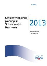 Schulentwicklungsplan - Landratsamt Schwarzwald-Baar-Kreis