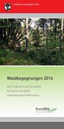 Waldbegegnungen 2013 - Landkreis Schwäbisch Hall