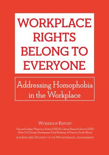 Workplace Rights Belong to Everyone Workshop Report