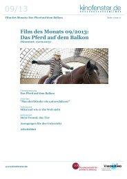 Das Pferd auf dem Balkon - Kino macht Schule