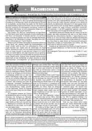 OKV Nachrichten 2/2013