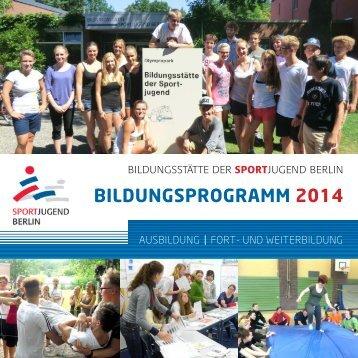 BILDUNGSPROGRAMM 2014 - Landessportbund Berlin