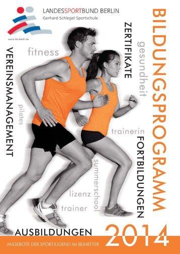 Bildungsprogramm 2014.indd - Landessportbund Berlin