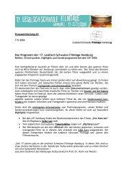 20 Centímetros - Lesbisch Schwule Filmtage Hamburg