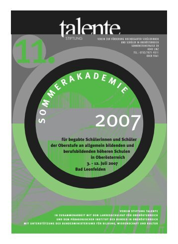 folder sekundarstufe2_xpress5 - Landesschulrat für Oberösterreich