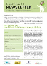 Newsletter Gesunde Schule 2013 - Landesschulrat für Oberösterreich