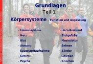 Sportphysiologische Grundlagen (anatomisch, physiologisch)