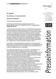 F.D.P. Landtagsfraktion Schleswig-Holstein - Informationsangebot ...