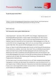 Es gilt das gesprochene Wort - Informationsangebot Schleswig ...