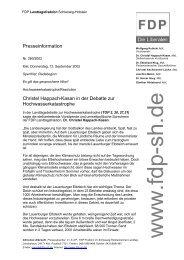 Presseinformation Christel Happach-Kasan in der Debatte zur ...