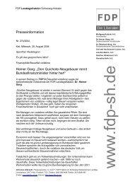 """Presseinformation Heiner Garg: """"Don Quichote-Neugebauer rennt ..."""
