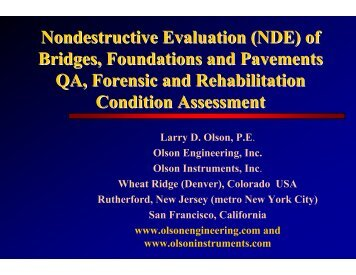 Nondestructive Evaluation (NDE) of Bridges, Foundations and ...