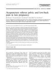 Acupuncture relieves pelvic and low-back pain in late pregnancy