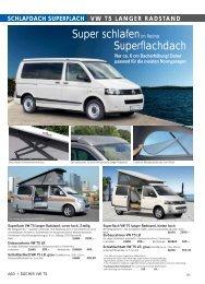 schlafdach superflach vw t5 langer radstand - ludospace.com