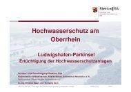 Hochwasserschutz am Oberrhein, SGD Süd - Ludwigshafen