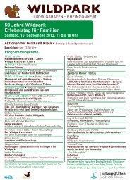 50 Jahre Wildpark Erlebnistag für Familien - Ludwigshafen