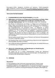 TEXTLICHE FESTSETZUNGEN I. PLANUNGSRECHTLICHE ...