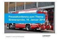 Präsentation Pressekonferenz Sirenenprobe - Ludwigshafen