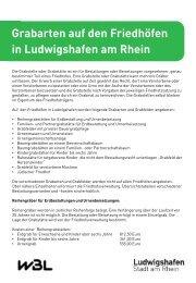 Infoblatt Grabarten (pdf, 129.4 kB) - Ludwigshafen