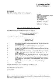 Sitzung des Beirates für Migration und Integration ... - Ludwigshafen