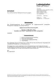Bekanntmachung Alle Grundstückseigentümer, die ... - Ludwigshafen