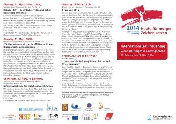 Programm Internationaler Frauentag 2014 (pdf ... - Ludwigshafen