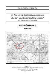 Entwurf Begründung - Landkreis Lüchow-Dannenberg