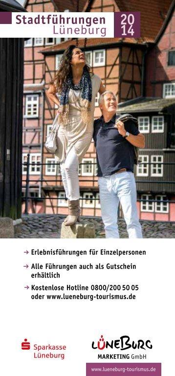 Stadt- und Erlebnisführungen für Einzelpersonen 2014 - Lüneburg