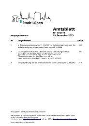 Amtsblatt - Stadt Lünen