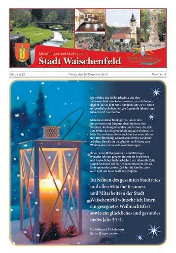 Im Namen des gesamten Stadtrates und allen ... - Waischenfeld
