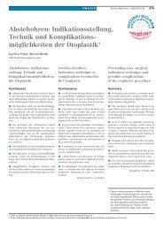 Abstehohren: Indikationsstellung, Technik und ... - LUKS