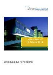 Einladung zur Fortbildung - Luzerner Kantonsspital