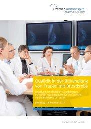 Qualität in der Behandlung von Frauen mit Brustkrebs - Luzerner ...