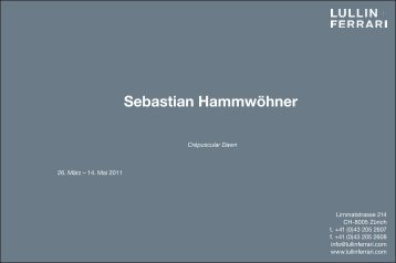 Sebastian Hammwöhner - Lullin+Ferrari