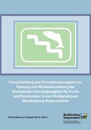 Fortschreibung des Prioritätenkonzeptes zur Planung und ...