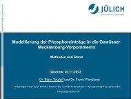 Modellierung der Phosphoreinträge in die Gewässer Methoden und ...