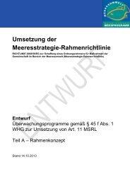 Umsetzung der Meeresstrategie-Rahmenrichtlinie - Landesamt für ...
