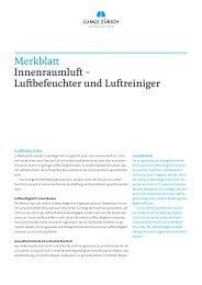 Luftbefeuchter und Luftreiniger - Lunge Zürich