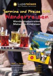 Termine und Preise 2014 - Lupe Reisen