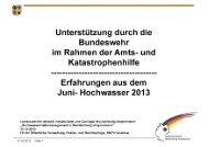 Unterstützung durch die Bundeswehr im Rahmen der Amts- und ...