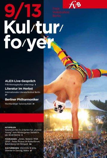 Kulturfoyer 09/2013 - Freie Volksbühne Berlin