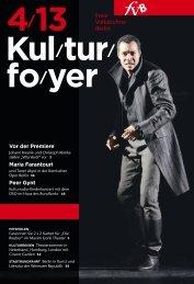 Kulturfoyer 04/2013 - Freie Volksbühne Berlin