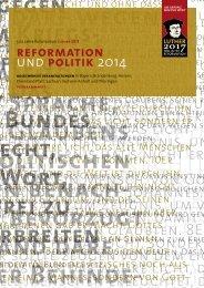 Prorgrammheft zum aktuellen Themenjahr - 500 Jahre Reformation