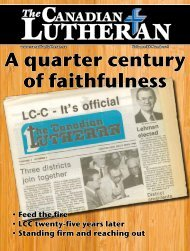 A quarter century of faithfulness - Lutheran Church-Canada