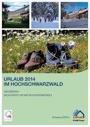 Urlaubsangebote Haus Breitnau 2014 - Luwoge