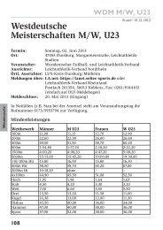 Westdeutsche Meisterschaften M/W, U23 - Leichtathletik-Verband ...